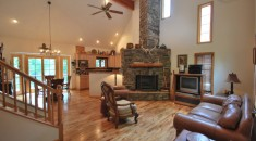 vacation rental home in Western North Carolina Mountains, lake front